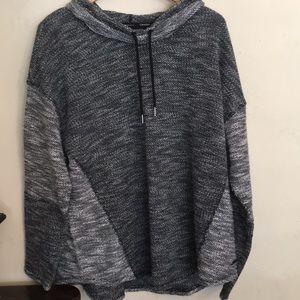 Calvin Klein - Gray Cowl Knit Sweatshirt